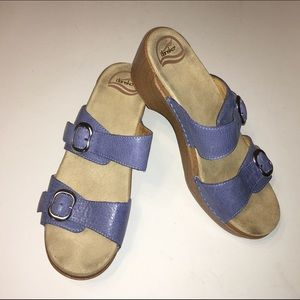 DANSKO blue leather sandals